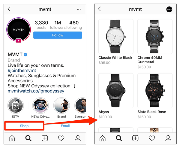 Instagram shop instructions