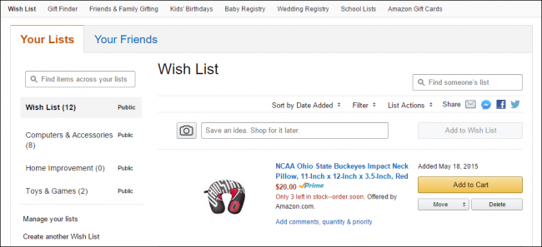 add a save item option